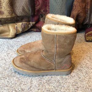 Ugg Australia chestnut rustic weave short boots 8